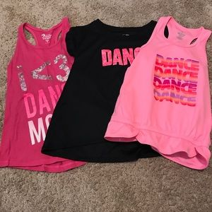 bundle of dance athletic shirts/tanks